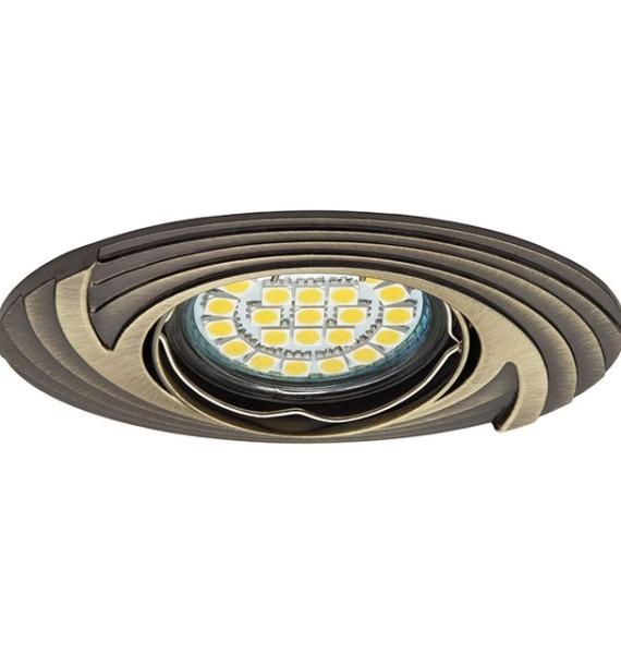 Kanlux FAGA CT-DTO50-AB patinált réz színű, mozgatható spot lámpatest