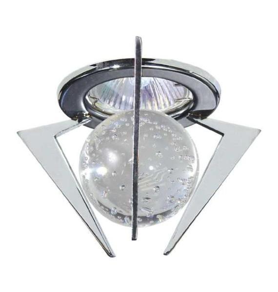 Kanlux TRISTAN CTX-10+K3-C kör alakú, króm színű, üveg előtétes spot lámpatest
