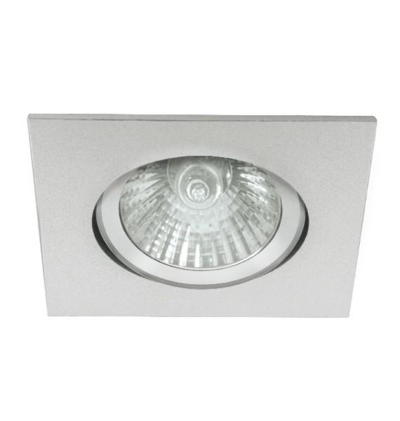 Kanlux RADAN CT-DTL50 alumínium színű, mozgatható, négyzet alakú spot lámpatest