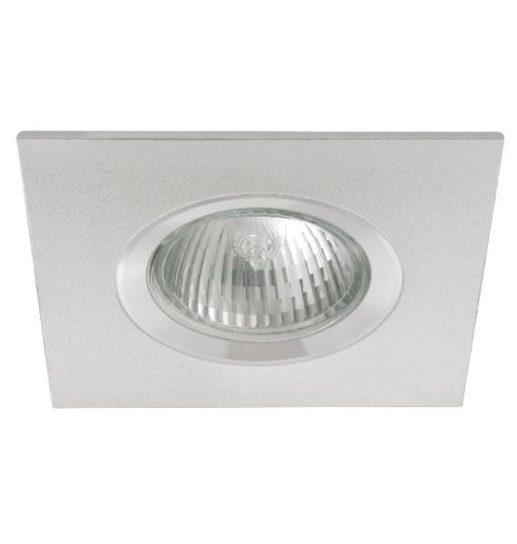 Kanlux RADAN CT-DSL50 alumínium színű, négyzet alakú spot lámpatest